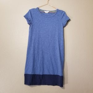 Boden Two Tone Blue T-Shirt Dress